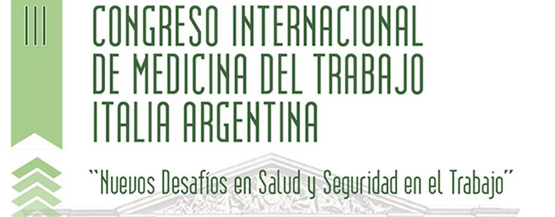Congreso Internacional de Medicina del Trabajo Italia Argentina