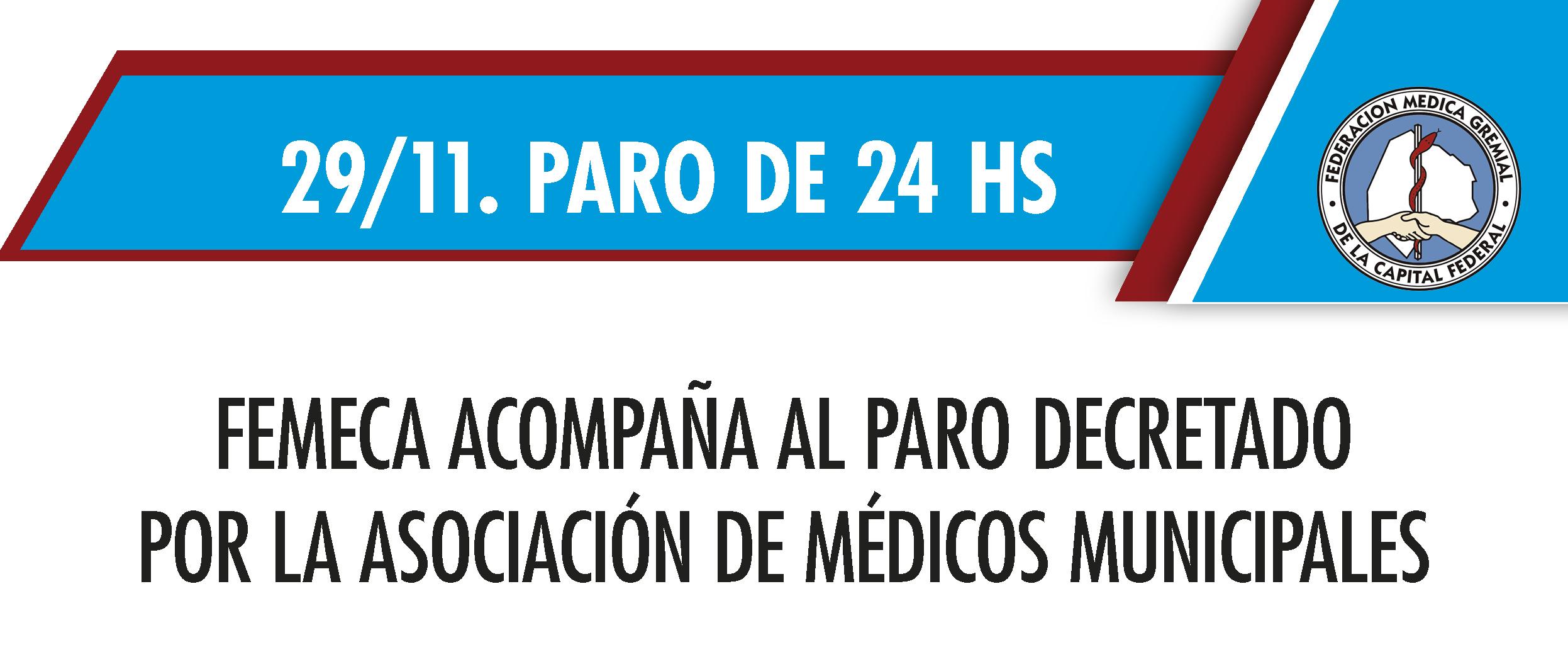 Paro en repudio de la represión a médicos residentes
