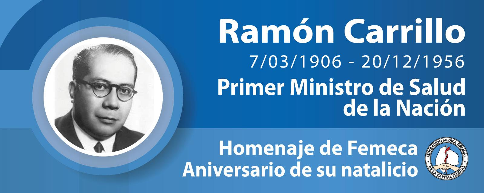 Dr. Ramón Carrillo, hombre fundamental de la salud argentina