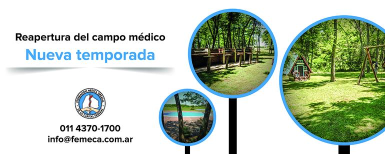 El 22 de septiembre el Campo Médico reabre sus puertas
